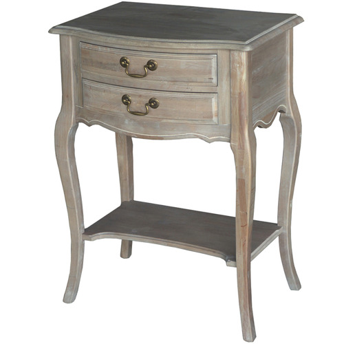 Oggetti Louis XV 2 Drawer Wooden Bedside Table