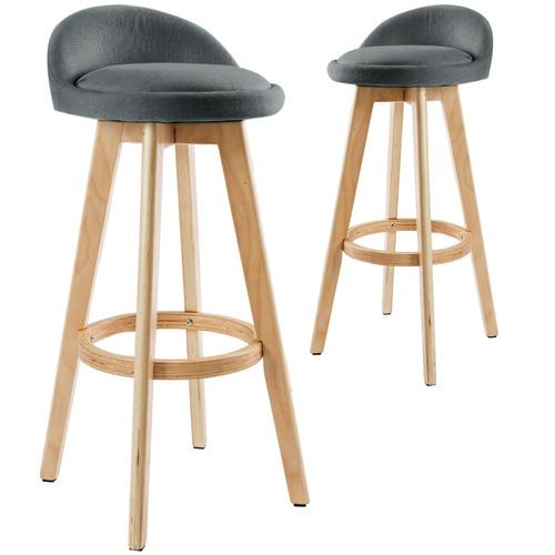 72cm Sunnie Upholstered Barstools (Set of 2)