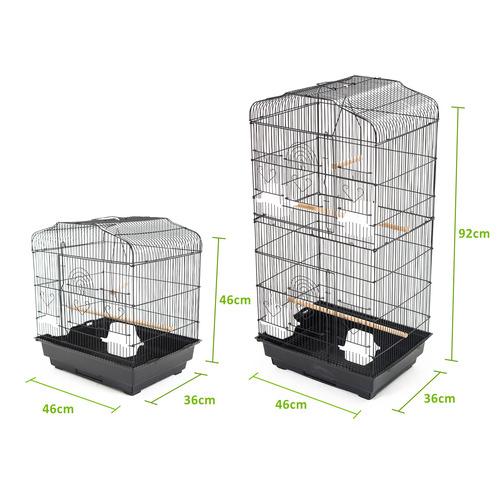 Trinity 92cm Black Skye Metal Bird Cage