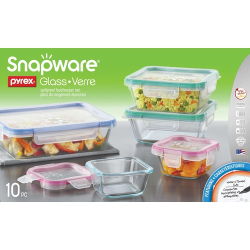 Snapware 10 Piece Total Solution Pyrex Glass Food Storage Set