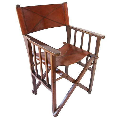 Beau Kundra Tan Leather Directoru0027s Chair