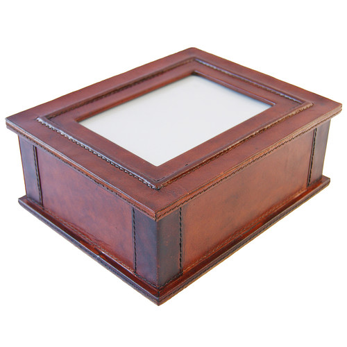 Kundra Tan Leather Memory Box