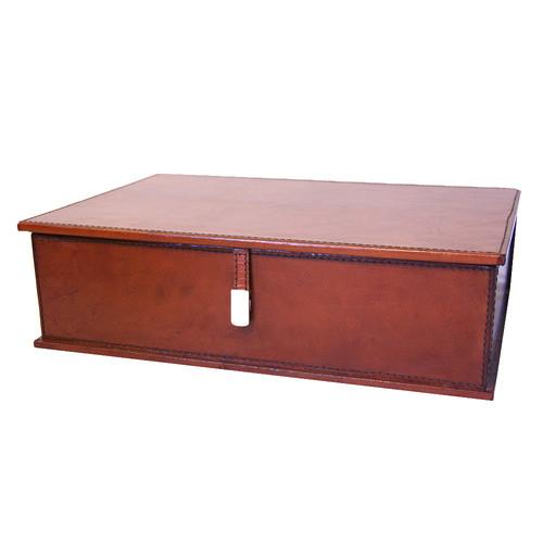 Kundra Tan Leather Document Box
