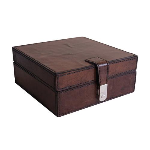 Kundra Dark Leather Square Box