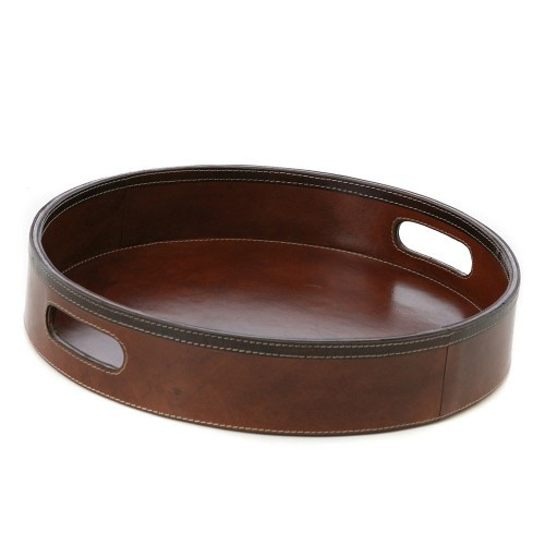 Kundra Tan Leather Leather Tray