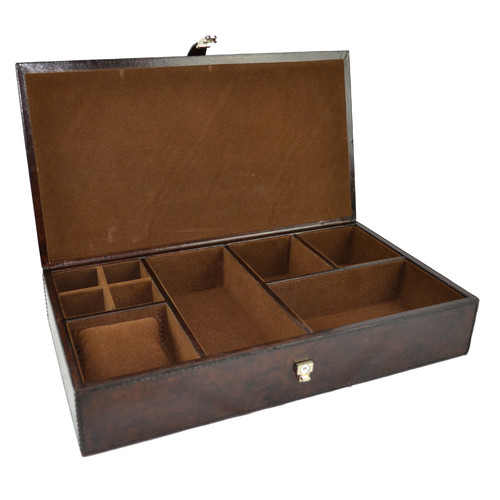 Kundra Dark Leather Jewellery Box