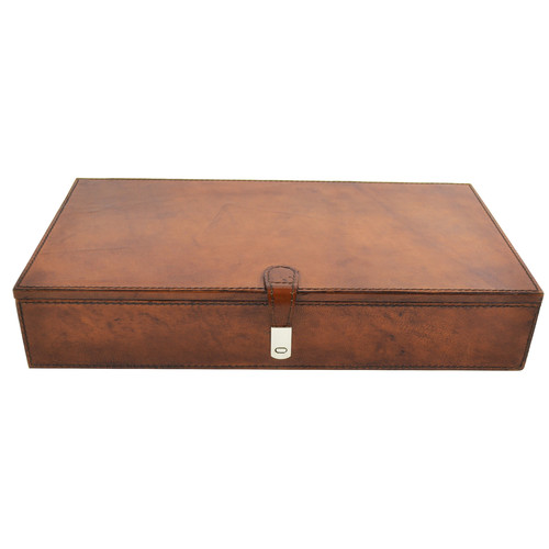 Kundra Tan Leather Jewellery Box