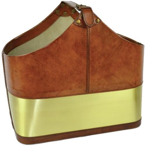 Kundra Leather Magazine Basket