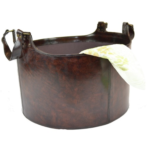 Kundra Leather Storage Basket