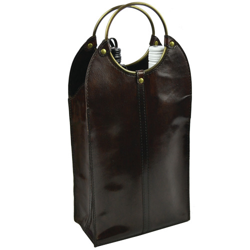 Kundra Mondavi Leather Double Wine Holder