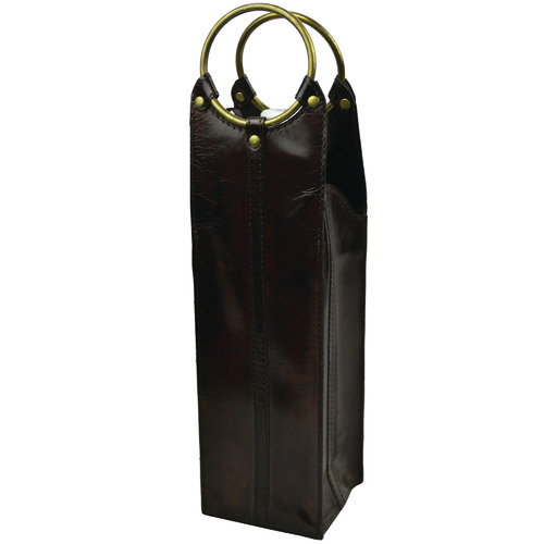 Kundra Mondavi Leather Single Wine Carrier