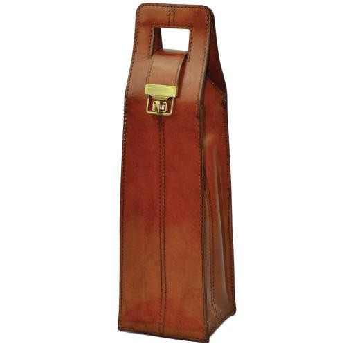 Kundra Musigny Leather Single Wine Carrier