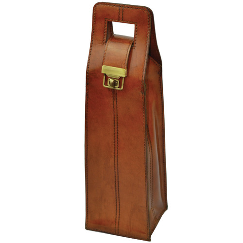 Leather Wine Carrier >> Musigny Leather Single Wine Carrier Temple Webster