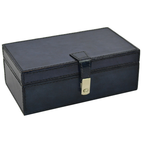 Kundra Blue Ipsy Leather Accessories Box