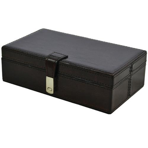 Kundra Etsy Rectangular Leather Accessories Box