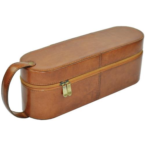 Kundra Margaux Leather Single Wine Carrier