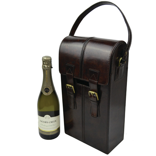 Kundra Penfolds Leather Double Wine Carrier