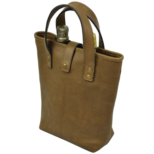 Kundra Chambertin Leather Double Wine Carrier