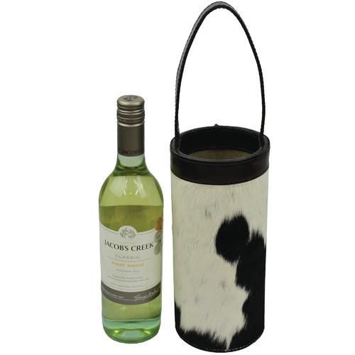 Kundra Zinfandel Leather Single Wine Carrier