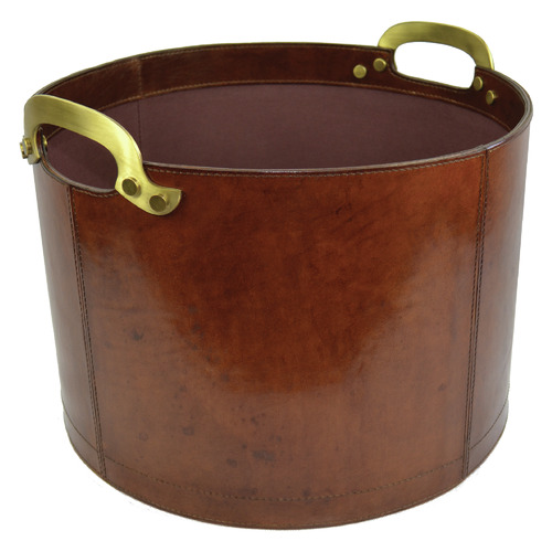 Kundra Leather Storage Basket