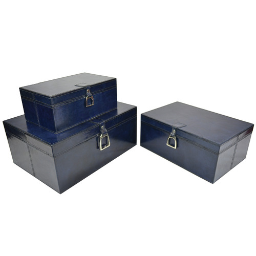 Kundra 3 Piece Guerlain Leather Box Set