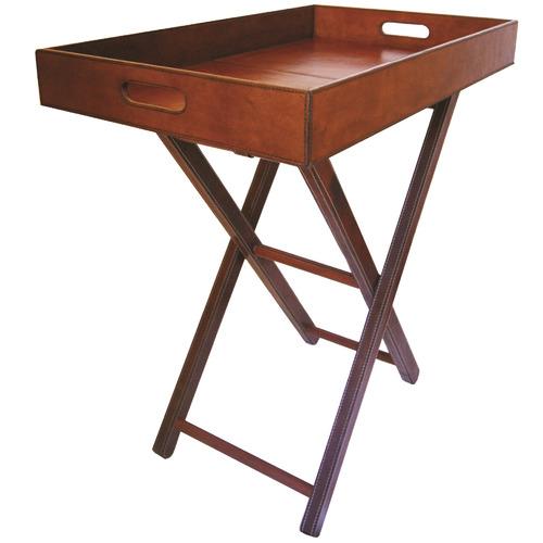 f20ac27b59 Tan Mivar Leather Butler's Tray Table