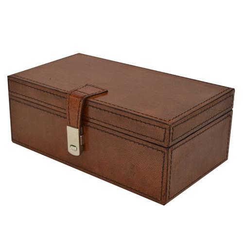 Kundra Rectangular Leather Jewellery Box