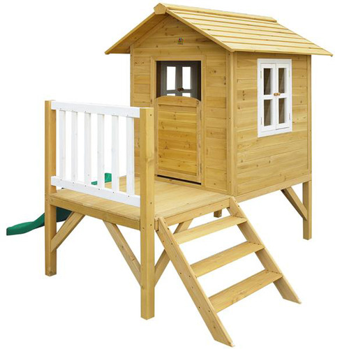 Outdoor Kids Wallaby Cubby House with Green Slide