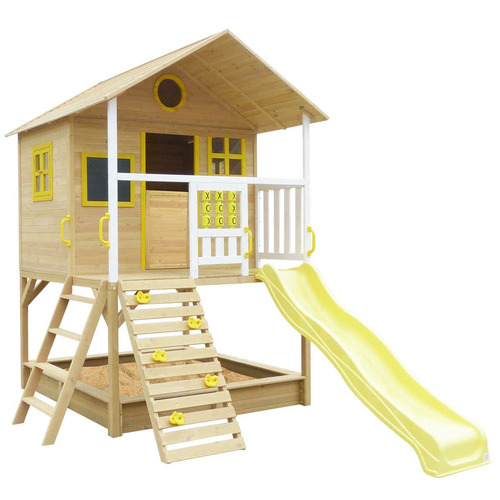 Outdoor Kids Yellow Cubby House Set