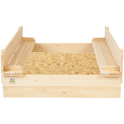Outdoor Kids Kids' Strongbox Square Sandpit