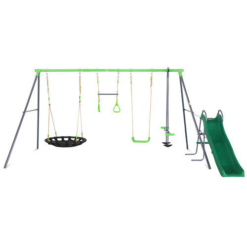 Outdoor Kids Lynx Station Swing Set with Slide