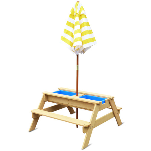 Outdoor Kids Sunrise Kids' Picnic Table with Umbrella