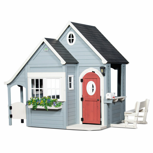 Kids Step 2 Cedar Wood Ring Cottage Cubby House