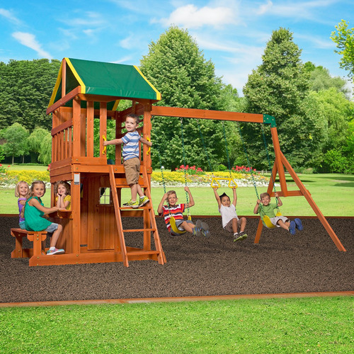 Outdoor Kids Step 2 Oakmont Wooden Play Centre
