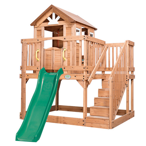 Kids Backyard Discovery Scenic Heights Cubby House with Slide