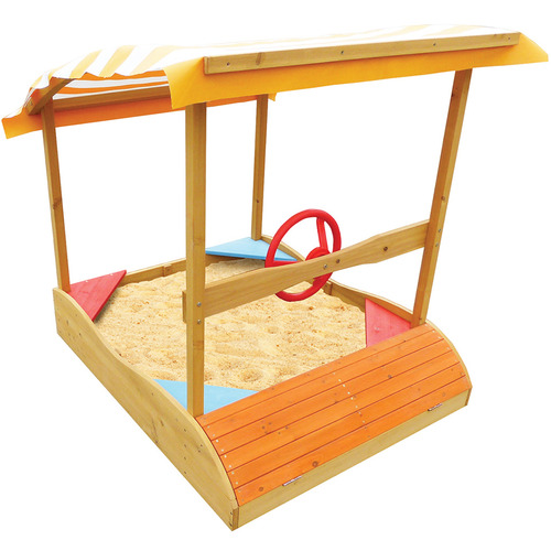 Lifespan Fitness Captain Boat Sand Pit with Canopy