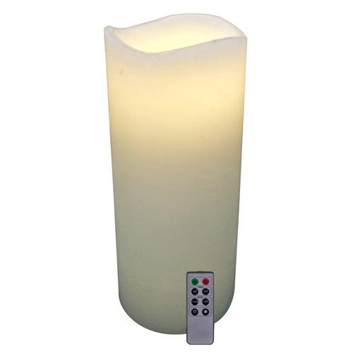 Alcyon Ivory Safeflame LED Wax Candle Pillar