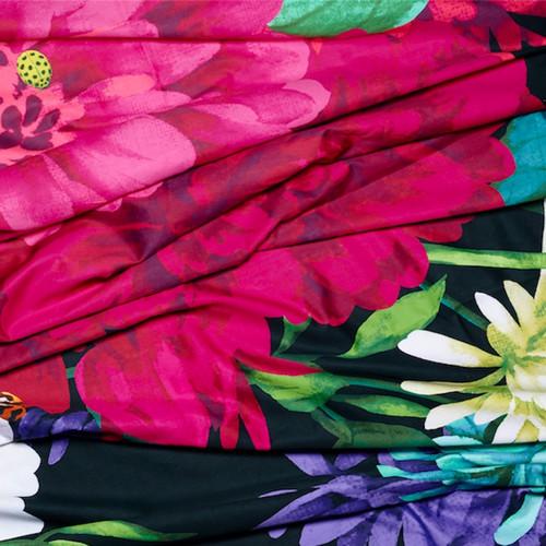Luxotic Black Bella Rosa Quilt Cover Set
