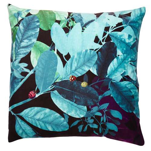 Luxotic Teal Ghost Velvet Cushion