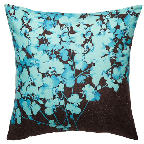 Luxotic Teal Orchard Cushion