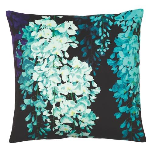 Luxotic Teal Wisteria Velvet Cushion