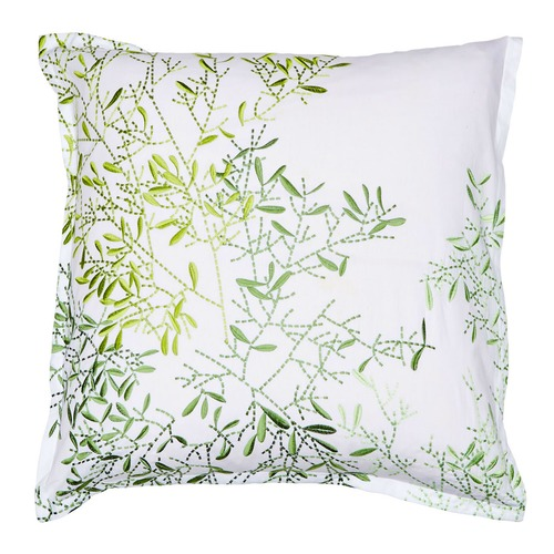 Luxotic Green Pascale Cotton Percale Euro Pillowcase