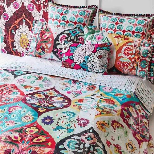 Luxotic Rust Eva Cotton Quilt Cover Set