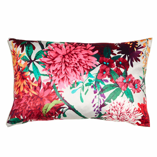 Luxotic Chintz Garden Rectangular Velvet Cushion