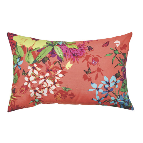 Luxotic Tropicana Tangerine Cushion Feather Filled