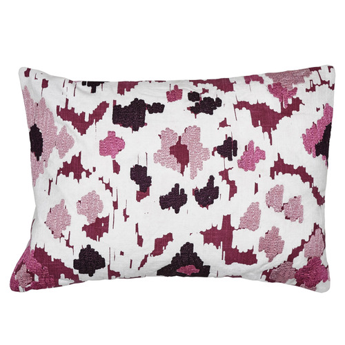 Luxotic Ikat Embroidered Cotton Cushion