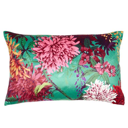 Chintz Garden Rectangular Velvet Cushion
