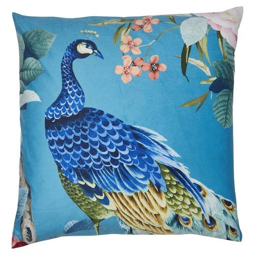 Peacock Linen Blend Cushion
