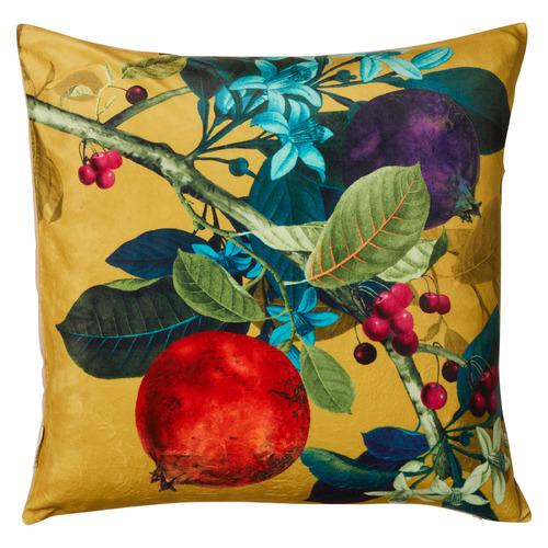 Pomegranate Velvet Cotton Cushion