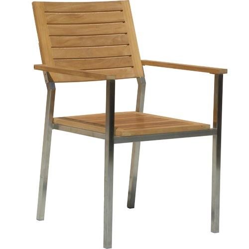 Allura Republic Renon Teak Outdoor Stacking Armchairs